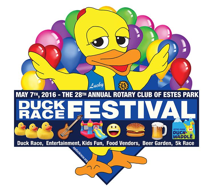 2016 Estes Park Duck Race Logo
