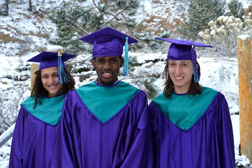 Eagle Rock School Trimester 64 Graduates Gigi Hagopian, Issac Holmes and Cat Leger