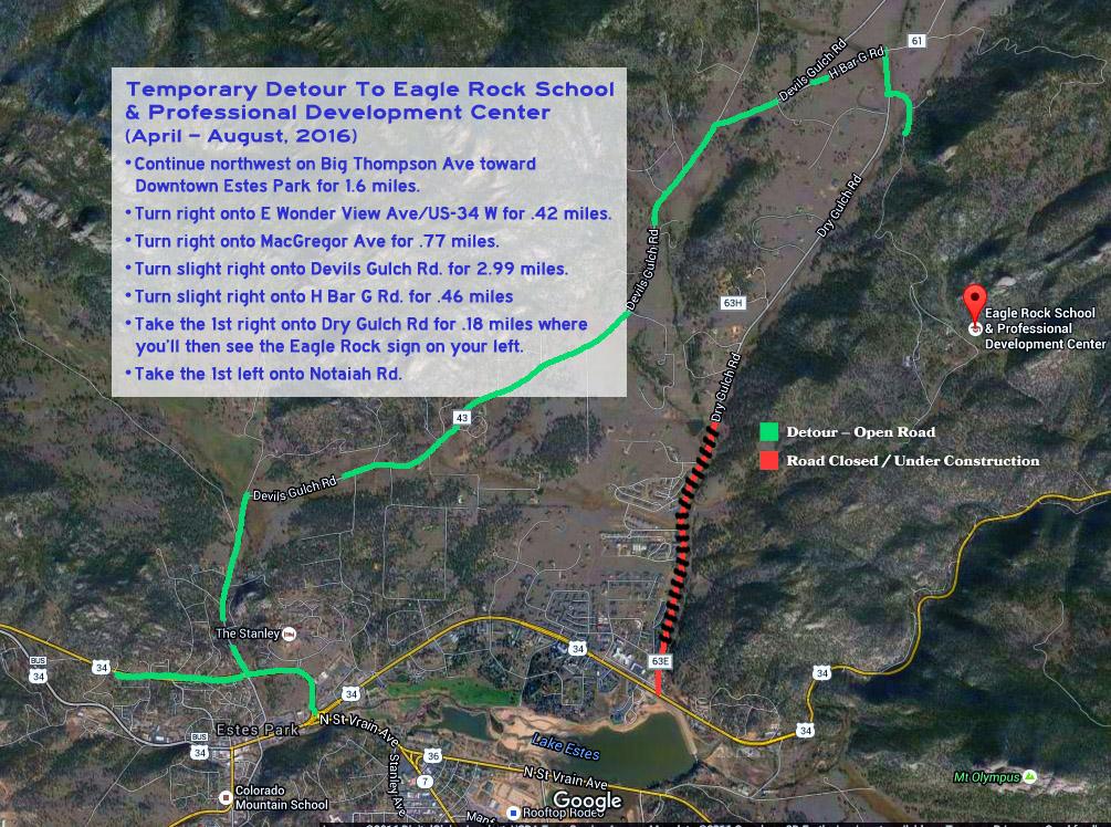 Eagle Rock Detor Map 2016