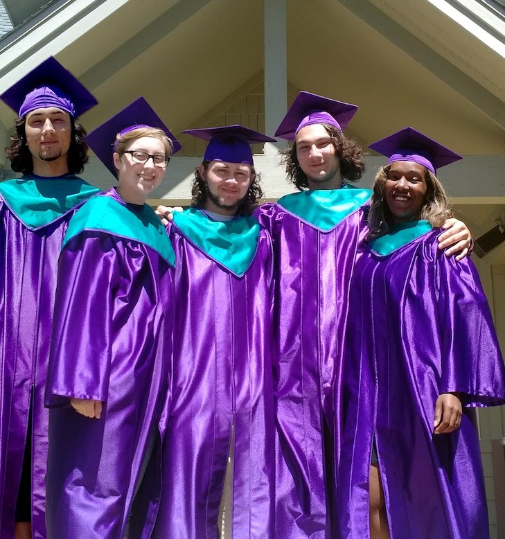 """L-R: Ryan Powell, Zoe """"Stormy"""" Johansen, Jared Moss Osterlund, Dillon Powell and Javonnie Campbell"""