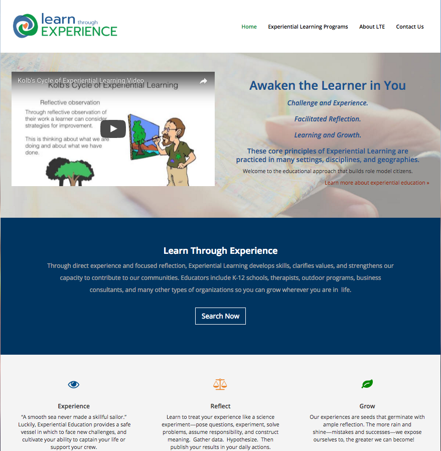 learning-through-experience-website