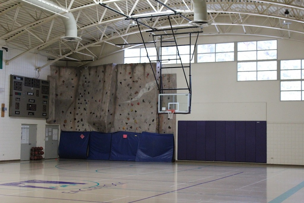 Basketball court at Eagle Rock School