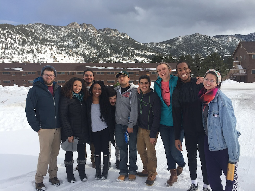 Ten of our 12 current Public Allies fellows during a recent 'Fellows Day Away' at the YMCA of the Rockies.