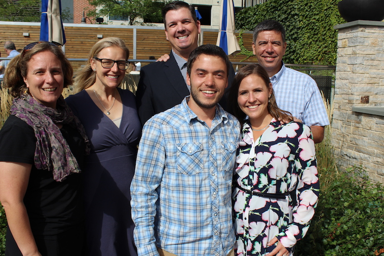 Eagle Rock's Professional Development Center staffers: (Back row - from L to R) — Sarah Bertucci, Christi Kelston, Dan Condon, and Michael Soguero. (Front row - from L to R) — Sebastian Franco and Anastacia Galloway Reed.