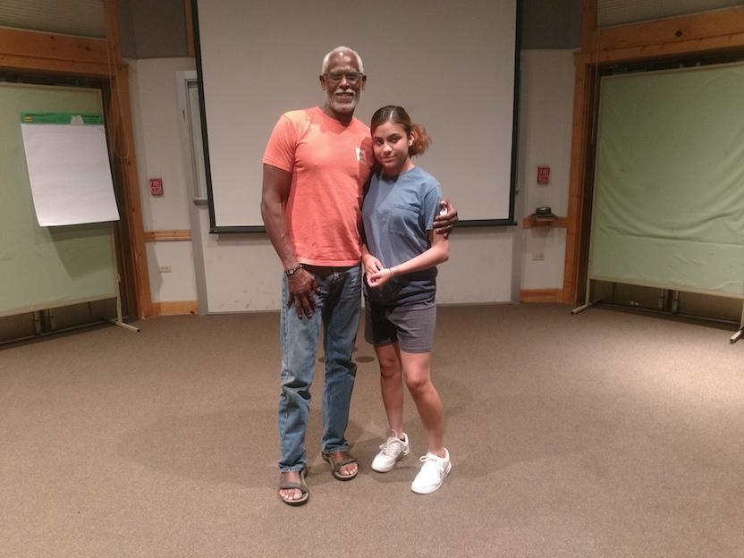 (Stephen Shobe with Eagle Rock School student Ixtel Nava-Barron.)